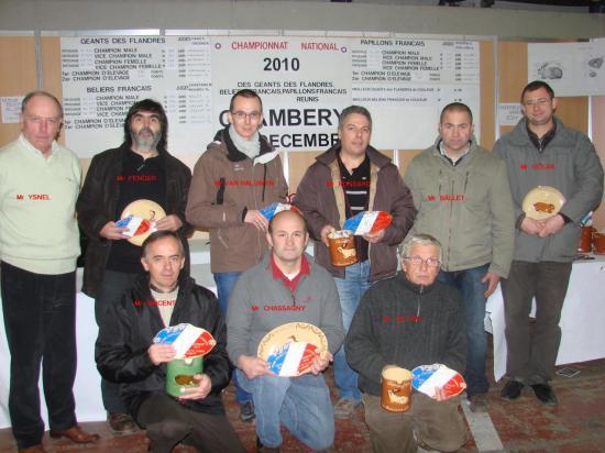 Les lauréats Chambéry 2010